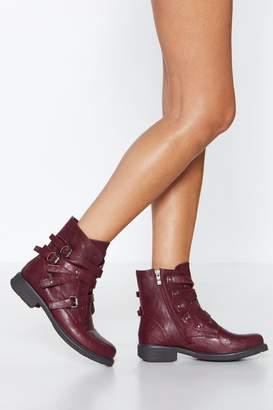 Nasty Gal Strap Battle Strappy Boot