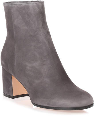 Gianvito Rossi Margaux grey suede heel ankle boot