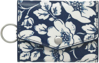 Cath Kidston Didworth Flowers Folded Card Holder With Keyring