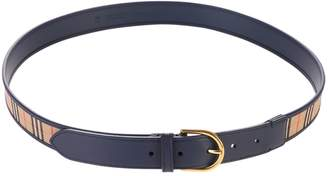 Burberry Blue Checked Belt