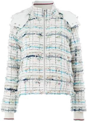 Thom Browne tweed padded hooded jacket