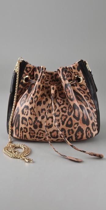 Be & D Leopard Jordan Cross Body Bag