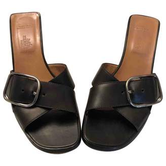 Hermes Leather Mules