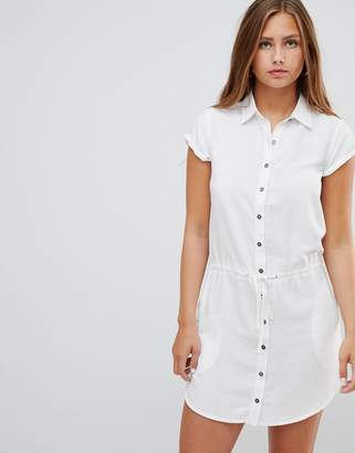Gilli shirt dress with drawstring waist