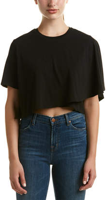 KENDALL + KYLIE Draped Cropped T-Shirt