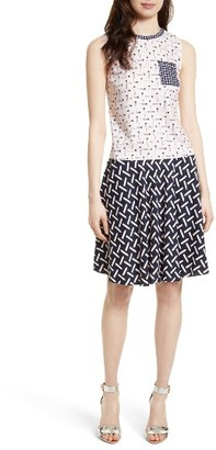 Women's Ted Baker London Mural Bias Cut Drop Waist Dress $279 thestylecure.com