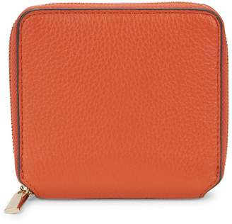 Saks Fifth Avenue Small Pebbled Leather Zip-Around Wallet