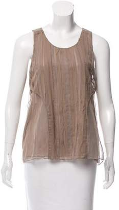 J. Mendel Silk Pleated Top