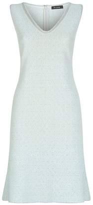 St. John Embellished Midi Dress