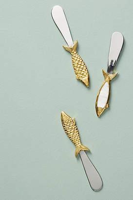 Anthropologie Sardine Cheese Knives, Set of 3