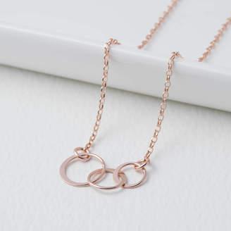 1fdeb6e8e EVY Designs Rose Gold Eternity Circle Necklace