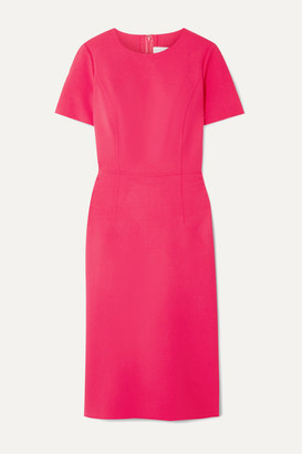Carolina Herrera Wool-blend Cady Midi Dress - Bright pink