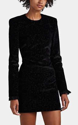 Philosophy di Lorenzo Serafini Women's Glitter-Accented Velvet Minidress - Black