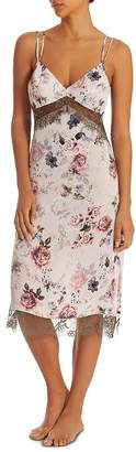 Midnight Bakery Satin Floral-Print Gown