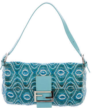 FendiFendi Bead-Embellished Knit Baguette