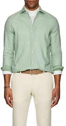 Barneys New York Men's Birdseye Cotton Shirt