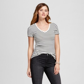 Merona Women's Striped Ultimate V Tee $8 thestylecure.com