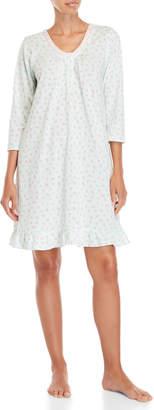 Aria Printed Three-Quarter Sleeve Nightgown