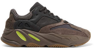 adidas Yeezy 700 Leather, Suede And Mesh Sneakers - Purple