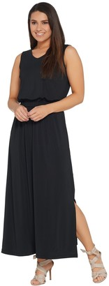 Joan Rivers Classics Collection Joan Rivers Petite Length Sleeveless V-Neck Jersey Maxi Dress