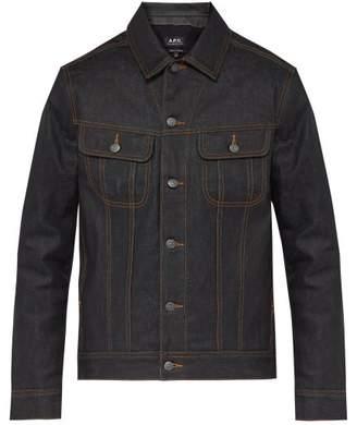 A.P.C. Rick Padded Waxed Denim Jacket - Mens - Indigo