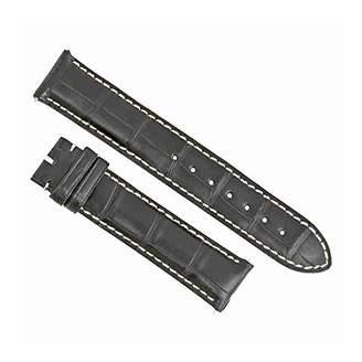 Swiss Watch International 19 MM Black Genuine Alligator Strap 19ABT01C