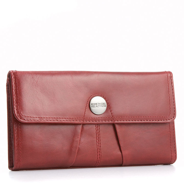 Kenneth Cole Reaction Wallet, Button Up Flap Clutch