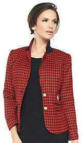 Joan Rivers Classics Collection Joan Rivers Classic Long Sleeve HoundstoothBlazer