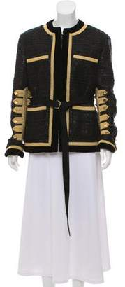 Givenchy Velvet-Trimmed Evening Jacket w/ Tags