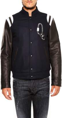 Lanvin Varsity Jacket With Leather Sleeves