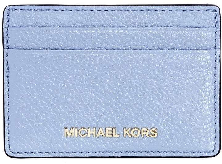9d1e92b1639c Michael Kors Money Pieces Leather Card Holder- Pale Blue - ONE COLOR - STYLE
