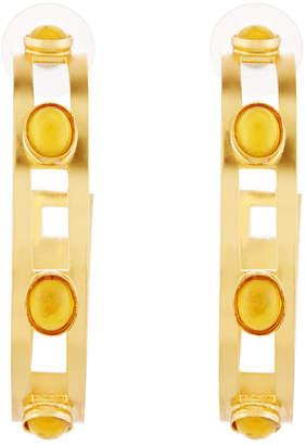Stephanie Kantis Monaco Citrine Hoop Earrings, Yellow