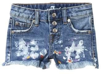 """7 For All Mankind 2\"""" Paint Splatter Shorts (Little Girls)"""