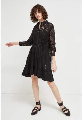 French Connection Tatus Lace Shirt Dress