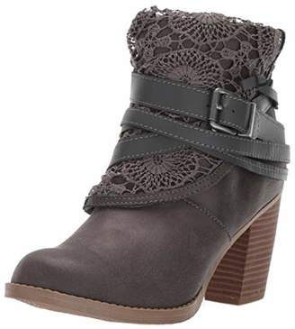Sugar Women's Puzzled Crochet Multi Strap Ankle Boot
