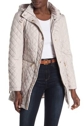 Vince Camuto Quilted Hooded Anorak Jacket