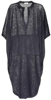 Brunello Cucinelli Sequinned linen and silk dress