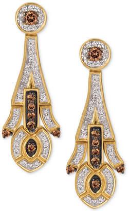 LeVian Le Vian Chocolatier Deco Estate Collection Diamond Drop Earrings (5/8 ct. t.w.) in 14k Gold