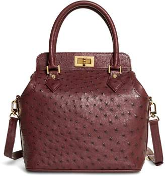 Free Standard Shipping At Brooks Brothers Ostrich Top Handle Satchel