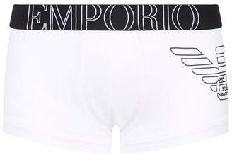 Emporio Armani Eagle Motif Stretch Cotton Boxer Trunks