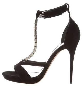 Alexander McQueen Suede Chain-Link Sandals