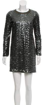 Nude Sequin Metallic Dress w/ Tags