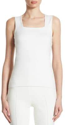 Akris Punto Squareneck Cotton Top