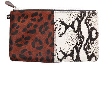 Warehouse NewbarK Double Animal Print Small Pouch