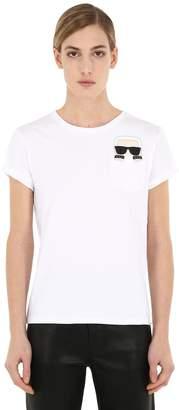 Karl Lagerfeld Ikonik Cotton Jersey T-Shirt