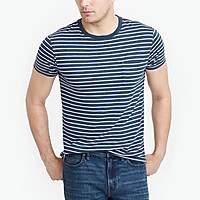 J.Crew Factory J.Crew Mercantile tall slim Broken-in striped pocket T-shirt
