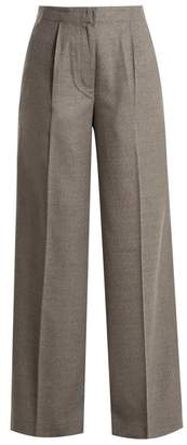 Elizabeth and James Etta High Rise Wide Leg Wool Blend Trousers - Womens - Grey