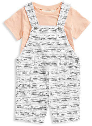 First Impressions Little Kid's Tribal Stripe Cotton Shortall and Tee Set