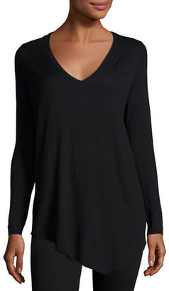 Joie Tambrel B Asymmetric Lace-Back Sweater $278 thestylecure.com