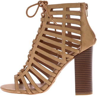 Bamboo Stone Lace Up Heel $48 thestylecure.com